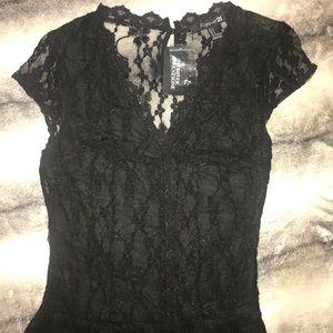 NWT Black Lace Jumpsuit